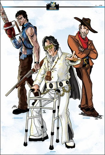 <i>Bubba, Ash & Brisco</i> Chicago Comic Con Exclusive Print By J. Christopher Schmidt, Scott McMahon & Jason Farris