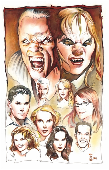 BuffyFest Chicago Comic Con VIP Exclusive Lithograph by Mark Texeira