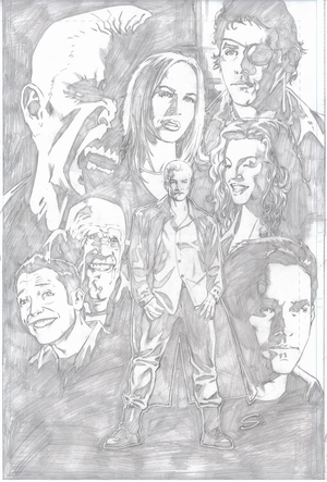 BuffyFest @ New Orleans Comic Con Lithograph Sketch Variant