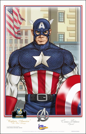 <i>Captain America ~ The First Avenger</i> Chicago Comic Con Exclusive Lithograph by Kurt Lehner