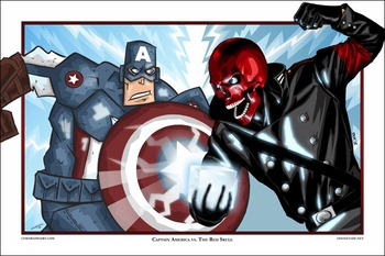 <i>Captain America vs. The Red Skull</i> Philadelphia Comic Con Exclusive Lithograph by Chris Raimo and Brian Roll