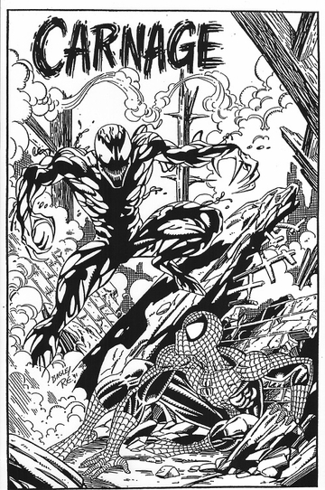 "<i>""Carnage"" - Unpublished Cover Re-Creation of ASM #361</i> by Randy Emberlin"