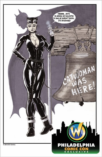<i>Catwoman</i> Philadelphia Comic Con Exclusive Lithograph by Kenneth Branch