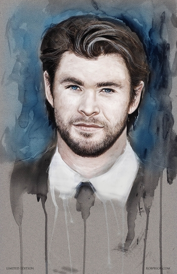 <i>Chris Hemsworth</i> Sacramento Comic Con VIP Exclusive Lithograph by Rob Prior