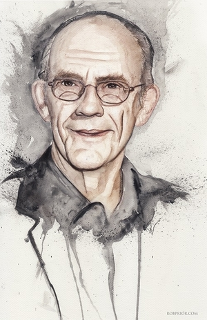 <i>Christopher Lloyd</i> Wizard World Comic Con VIP Exclusive Lithograph by Rob Prior