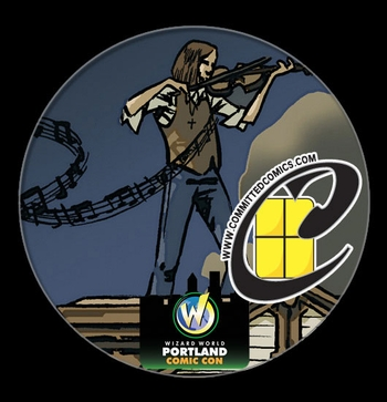 <i>Committed  Comics VIP Button</i> Portland Comic Con Exclusive Button by Gregory Smith & Ulises Carpintero