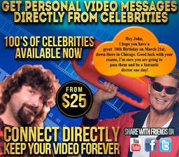 Connect Directly & Get Personal Video Messages From Your Favorite Celebrities