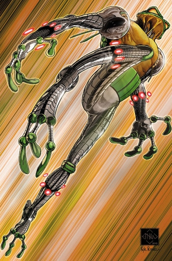 <i>CyberFrog</i> Wizard World Comic Con VIP Exclusive Trading Card by Ethan Van Sciver