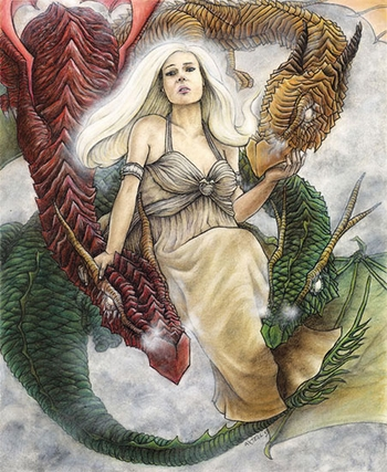 <i>Daenerys and Her Dragons</i> Philadelphia Comic Con Exclusive Print by Jason E. Axtell