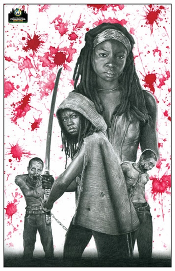 <i>Danai Gurira - Michonne</i> Philadelphia Comic Con Exclusive Lithograph by Chadwick Haverland