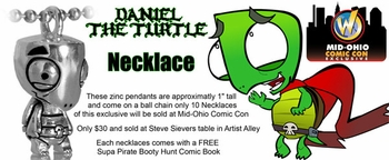 <i>Daniel the Turtle</i> Mid-Ohio Comic Con Exclusive Necklace by Steve Sievers