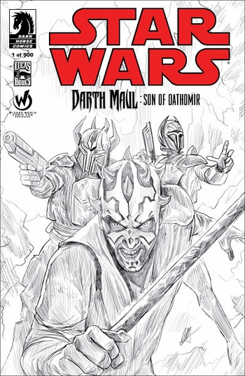 <i><b>Darth Maul: Son of Dathomir #1</i> Atlanta Comic Con Exclusive Sketch Cover by Chris Scalf</b>