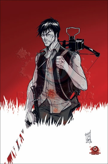 <i>Daryl Dixon</i> from �The Walking Dead� Philadelphia Comic Con Exclusive Print by Tom Hodges
