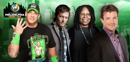 David Boreanaz, Nathan Fillion, Whoopi Goldberg, Christopher Lloyd, Norman Reedus, WWE� Superstars John Cena� & Batista� Headline Celebrity Guests @ Wizard World Philadelphia Comic Con, June 19-22