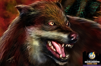 <i>Dire Wolf</i> Sacramento Comic Con Exclusive Lithographs by PescEffects The Art of Jerry Pesce