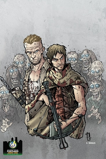 <i>Dixon Brothers</i> Portland Comic Con Exclusive Print By Puis Calzada, Daniel Morales & Mercenary Art Studio