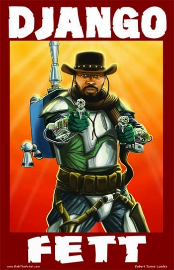 <i>Django Fett</i> Portland Comic Con Exclusive Lithograph by Robert Luedke
