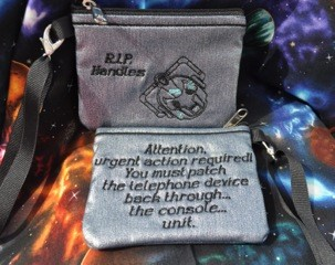 <i>Doctor Who: Farewell to Handles</i> Louisville Comic Con Exclusive Wristlet by Jessica Miller of Divastitch12