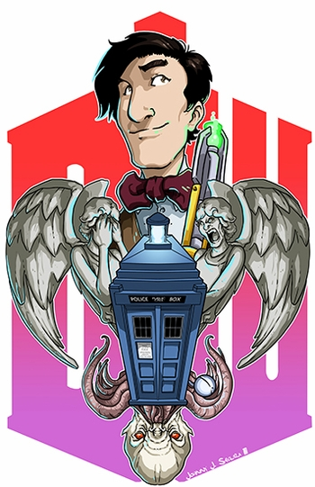 <i>Dr. Who Fleur de Lis</i> New Orleans Comic Con Exclusive Lithograph by Johnny J. Segura III