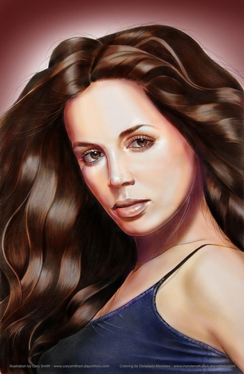 <i>Eliza Dushku</i> Philadelphia Comic Con Wizard World VIP Exclusive Lithograph by Cory Smith