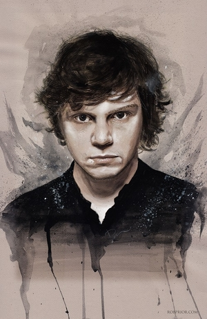 <i>Evan Peters</i> Wizard World Comic Con VIP Exclusive Lithograph by Rob Prior