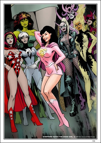 <i>Everyone Hates A Good Girl</i> Chicago Comic Con Wizard World VIP Exclusive Lithograph by Alan Davis