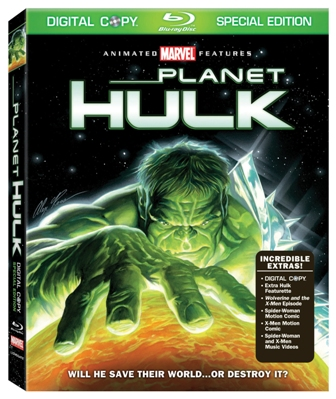 EXCLUSIVE CLIP FROM PLANET HULK BLU-RAY AND 2-DISC SPECIAL EDITION DVD FROM LIONSGATE