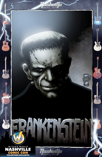 <i>Frankenstein</i> Nashville Comic Con Volunteer Exclusive Lithograph by Jeff Balke