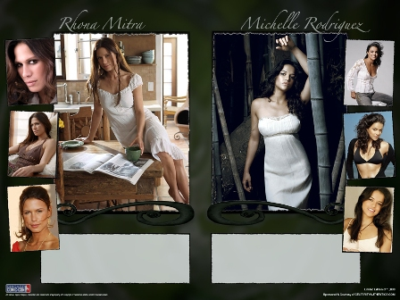 FREE MICHELLE RODRIGUEZ & RHONA MITRA POSTER