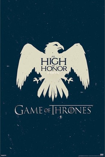 <i>Game Of Thrones Arryn Sigil Logo</i> Sacramento Comic Con Exclusive Poster