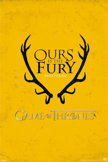 <i>Game Of Thrones Baratheon Sigil Logo </i> Sacramento Comic Con Exclusive Poster