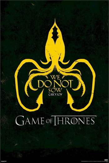 <i>Game Of Thrones Greyjoy Sigil Logo</i> Sacramento Comic Con Exclusive Poster