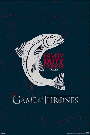 <i>Game Of Thrones Tully Sigil Logo </i> Sacramento Comic Con Exclusive Poster