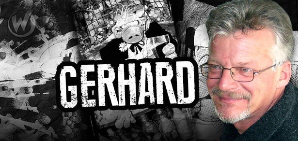 <b>EISNER AWARD WINNER</b> Gerhard, <i>Cerebus</i>, Coming to Chicago, Columbus & Austin!