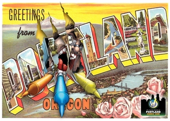 "<i>""GET BALKED"" in Portland</i> Portland Comic Con Exclusive Postcard by Joe Romano and Jeff Balke"