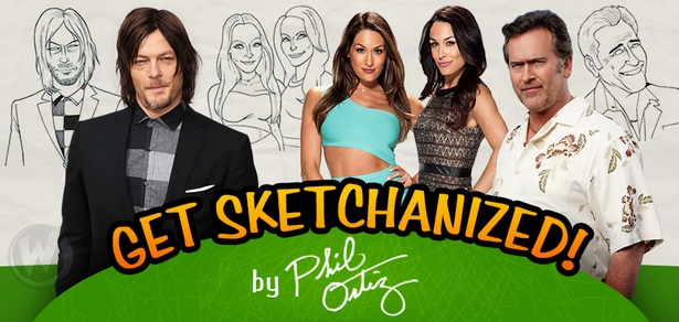 Get �Sketchanized� by 5-TIME AWARD WINNER The Simpsons Artist Phil Ortiz in Richmond, Chicago, San Jose, Pittsburgh, Tulsa, Austin, Louisville, Reno, New Orleans, Atlanta, Portland, Cleveland, Las Vegas, St. Louis, Madison, Minneapolis, Des Moines, Philadelphia, Albuquerque, Greenville & Orlando!