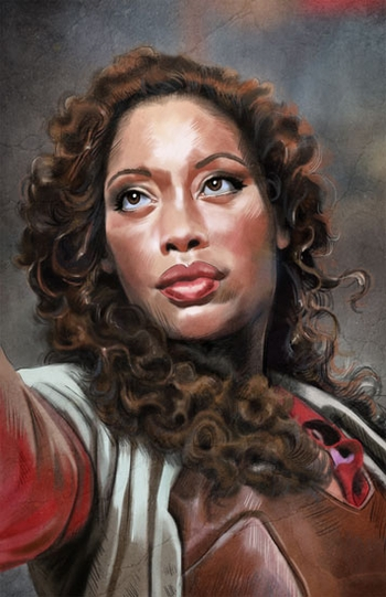 <i>Gina Torres</i> Philadelphia Comic Con Wizard World VIP Exclusive Lithograph by Cris Delara