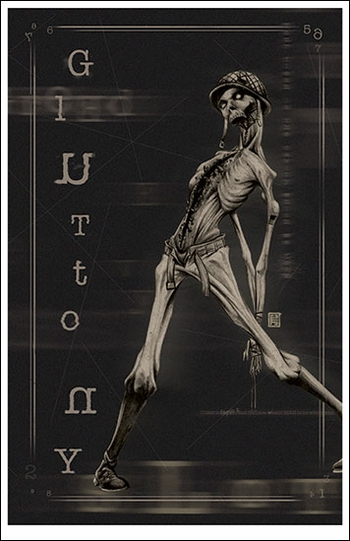 <i>Gluttony</i> Wizard World VIP Exclusive Lithograph by John Tyler Christopher