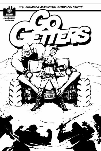 <i>GoGetters - #1 Exclusive Ashcan</i> Portland Comic Con Comic Book Written by Shawn Aldridge & Art by Chris Peterson