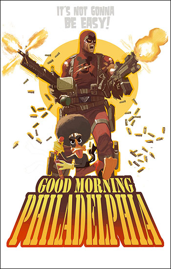 <i>Good Morning Philadelphia!</i> Wizard World Comic Con VIP Exclusive Lithograph by Daniel Acu�a