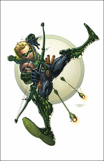 <i>Green Arrow</i> Philadelphia Comic Con VIP Exclusive Lithograph by Harvey Tolibao