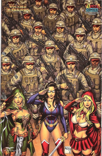 <b><i>Grimm Fairy Tales Presents Wounded Warriors Special</i> 1-shot I Like Comics Exclusive Cover by Alfredo Reyes & Simon Gough</b>