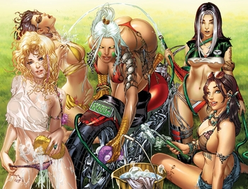 <i>Grimm Fairy Unleashed #1 Cover D</i> Philadelphia Comic Con Exclusive by Eric �Ebas� Basaldua & Zenescope