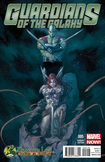 <i>Guardians of the Galaxy #5</i> Dragon�s Lair Exclusive Variant Cover By Julian Tedesco