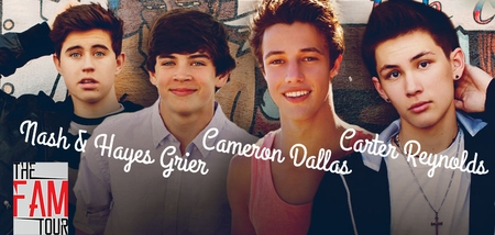 Wizard World Presents The FAM Tour � Hayes Grier, Nash Grier, Cameron Dallas & Carter Reynolds Coming to San Antonio Comic Con 2014!
