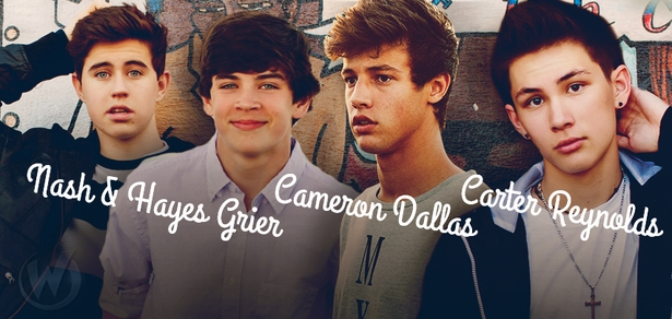 Nash Grier, Cameron Dallas, Hayes Grier & Carter Reynolds Coming to socialcon CHICAGO!