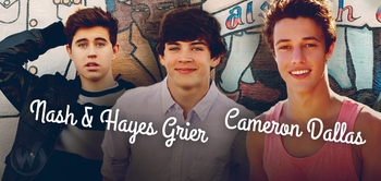 Hayes Grier, Nash Grier & Cameron Dallas Coming to socialcon CHICAGO!
