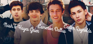 SATURDAY � Hayes Grier, Nash Grier, Cameron Dallas & Carter Reynolds GROUP Panel @ Minneapolis Comic Con 2014 ADVANCE PRE-SALE ONLY