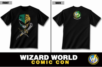 <i>Helmets & Daggers</i> Wizard World Comic Con Exclusive T-Shirt by �Green Power Ranger� Jason David Frank