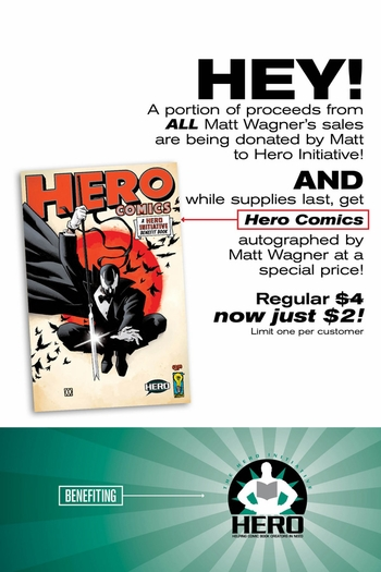 Hero Initiative at Wizard�s Chicago Comic Con With Guest Star Matt Wagner!